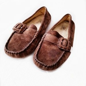 UGG size 9 driving flats Thelma brown suede shoes